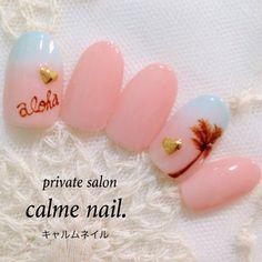 #Nailbook|ネイルデザインを探すならネイル数No.1のネイルブック Beach Nail Art, Beach Nails, S And S Nails, Coral Nails, Manicure, Polish, Nailbook, Finger Nails, Tropical