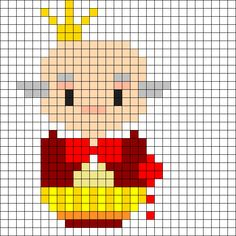 King Candy Perler Bead Pattern