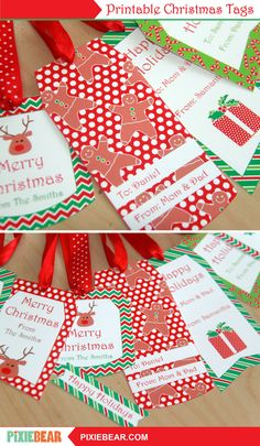 Christmas Gift Tags - Printable Christmas Labels, Personalized Christmas Tags for Kids, Editable Holiday Tags Template, Xmas To From Tags Christmas Gift Tags Printable, Christmas Labels, Holiday Gift Tags, Printable Tags, Christmas Tag, Printable Invitations, Christmas Printables, Handmade Christmas, Party Printables