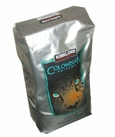 Kirkland Signature Colombian Supremo Whole Bean Coffee 3 Pound Value Bag - http://www.teacoffeestore.com/kirkland-signature-colombian-supremo-whole-bean-coffee-3-pound-value-bag/