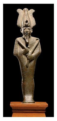 AN EGYPTIAN BRONZE FIGURE OF OSIRIS LATE PERIOD, CIRCA 6TH-4TH CENTURY B.C. | Christie's