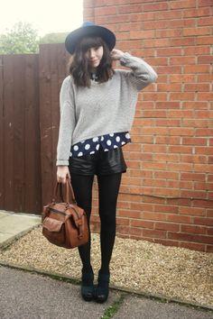 polka dots and layers #TheStylishHeart