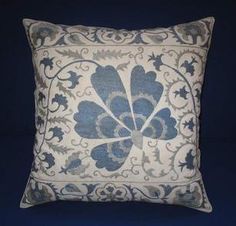 Cushion Covers – Beautiful handmade flowers pattern silk – a unique product by Eastern-gifts on DaWanda