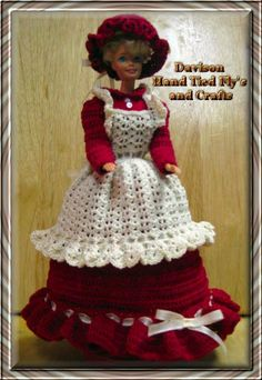 Barbie Fashion Doll 3 pc Red Country Dress and by KathyDavison, $16.00