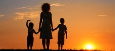 Mother and children on sunset silhouette. Mother and children on a sunset silhou , Silhouette Tattoos, Sunset Silhouette, Child Nursing, Nursing Care, Prayer For Mothers, Selling Photos, Tattoos For Kids, Tattoo Kids, Tattoo Mom