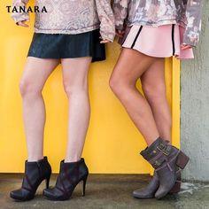 LETS GO GIRLS. Para a segunda ser um dia de primeira contem com #tanarabrasil  Bota salto fino  ref. T0162  Bota salto quadrado  ref. T0225  #shoesfirst #girls #love #shoeslovers