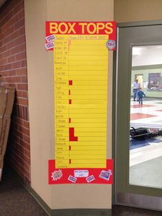 Box Top Collection Chart- by class