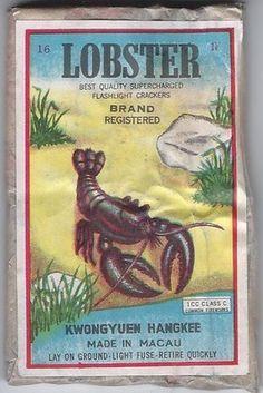 Lobster Brand Firecracker Label Only Logos   eBay