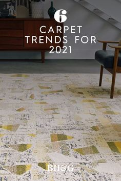 As comfort remains paramount amid a global pandemic, carpet is making a subtle comeback in key areas of the home. Providing a complement to existing flooring, carpet in updated styles and installations adds definition, durability, and comfort to living spaces. Here are the can't-miss carpet trends to watch for in the coming year. #carpet #carpettrends #homedesignideas #flooringideas #bhg Carpet Trends, Home Decor Trends, Home Improvement, Living Spaces, House Design, Flooring, Style, Swag, Wood Flooring