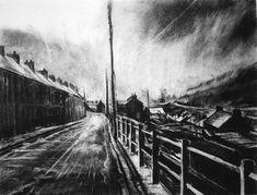 David Carpanini Gathering Storm, Nant-y-Moel edition of 20 Landscape Drawings, Landscape Prints, Landscape Art, Landscape Architecture, Valley View, Night Time, Home Art, Printmaking, Amazing Art