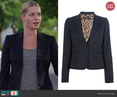 Eve's pinstriped blazer on The Librarians.  Outfit Details: http://wornontv.net/44185/ #TheLibrarians