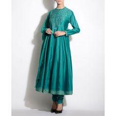 Aquamarine Anarkali Suit with Applique Work By AM:PM #Anarkali #KurtaSet #Prints - Indian Fashion Clothing #Dress #Quirky #Motifs #Embroidery #Floral #Black #Brown #India #Blue #Fuchsia #Designer Indian Salwar Kameez – Indian Suits – Designer Wear of India #Indian #Luxury #Ethnic #DesignerWear #Fashion #AnkurModi #PriyankaModi #ExclusivelyIn #AMPM #Style - Shop Indian Ethnic Wear Online - Designer Dresses of India, Buy Online