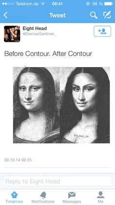 Lol that was more than contour. She has eyebrows and a better weave.