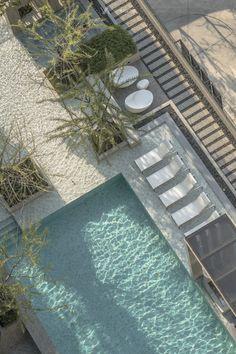 Aspire Sathorn Ratchapruek on Behance Swimming Pool Landscaping, Swimming Pool Designs, Outdoor Swimming Pool, Backyard Landscaping, Lightroom, Adobe Photoshop, Deco, Pool Sizes, Backyard Pool Designs