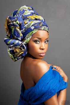African Head Wraps For LadiesLatest African head wrap styles for beautiful and classy women is all w African Dresses For Women, African Attire, African Wear, Ghanaian Fashion, African Fashion, Ethno Style, African Head Wraps, African American Women, Kitenge