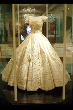 Jackie Kennedy's Famous Dior Wedding Gown.