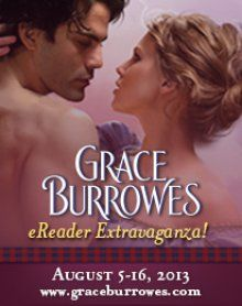 Grace Burrowes is doing an e-reader giveaway! Check it out: http://www.nightowlreviews.com/V5/Blog/Articles/An-Interview-With-Grace-Burrowes-by-Tammie-King