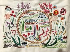 Embroidered sampler from Dropcloth samplers