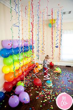 DIY Photo Backdrops Colorful Photo Backdrop with Balloons and Garlands 13 Inventive DIY Photo Backdrop Tutorials. I think this balloon backdrop is perfect for a toddler birthday party. The post DIY Photo Backdrops appeared first on Toddlers ideas. Birthday Photos, Birthday Fun, Birthday Parties, Birthday Ideas, Birthday Balloons, Rainbow Birthday, Birthday Decorations, Kid Parties, Birthday Celebrations