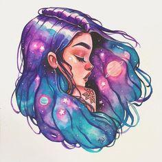 Art And Illustration, Arte Inspo, Kunst Inspo, Cartoon Kunst, Cartoon Art, Art Drawings Sketches, Cool Drawings, Pretty Drawings Of Girls, Pretty Art