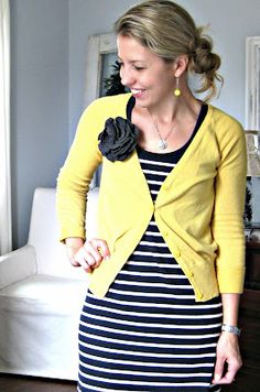 stripes, and yellow - sounds great to me!