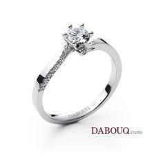 Dabouq Studio Engagement Ring - DER0001 - Simple+