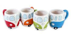 Volkswagen Merchandise - 4 Piece Ceramic Coffee Mug Set (VW Camper Bus) Merchandiseonline,http://www.amazon.com/dp/B009V2ZDUA/ref=cm_sw_r_pi_dp_gaqCtb15MFV3DVZF