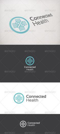Connected Health - Symbols Logo Templates