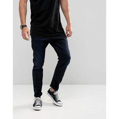 G-Star D-Staq 3D Super Slim Jeans Dark Aged Wash ($180) ❤ liked on Polyvore featuring men's fashion, men's clothing, men's jeans, black, mens flap pocket jeans, mens slim cut jeans, tall mens jeans, g star mens jeans and mens slim jeans