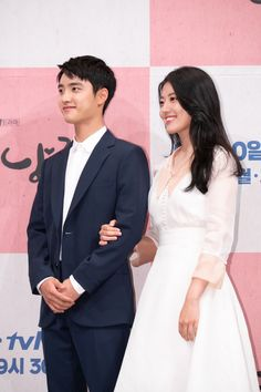 Nam Ji-Hyun and Do Kyung-Soo at the 100 days my Prince Press conference