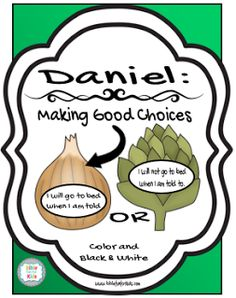 Daniel & his friends make good choices Conversation Starter teacher's visuals and /or take home printables.