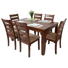 Dining Room Furniture Design, Dinning Table Design, Dining Table With Leaf, Modern Wood Furniture, Wooden Dining Tables, Dining Decor, Dining Table Chairs, Home Furniture, Outdoor Furniture Sets