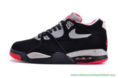 new arrivals fd84a 5c0ca Authentic Men Nike Air Flight 89 Black Grey Red Basketball Shoes for Online