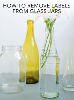 There are many ways to repurpose glass containers, from using soda bottles as vases to using wine bottles to serve water. But if you've ever gotten into a struggle with a sticky label, you know how tempting...