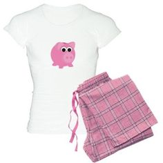 Pink Piggy Bank Pajamas on CafePress.com