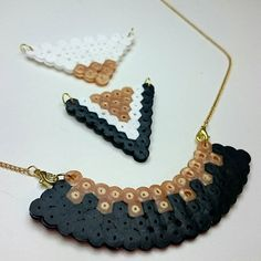Necklaces hama beads by  cherrily13