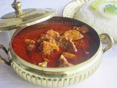 This is a very spicy mutton preparation from Rajasthan. This authentic  fiery red curry as the name suggest (Laal Maas) is cooked wit...