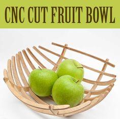 Fancy Wooden Fruit Bowl Using 123D Make