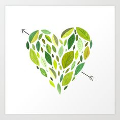 Hearts and Arrows Art Print by Kelly McTavish - $18.00