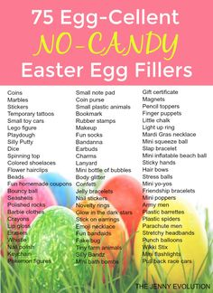 75 Egg-Cellent Non Candy Easter Egg Fillers - Perfect for filling Easter baskets with no food! | The Jenny Evolution