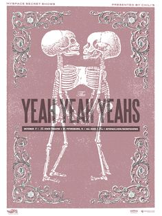 The Yeah Yeah Yeahs concert poster by Micah Smith