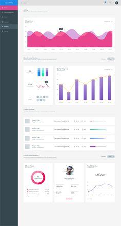 Analytics Dashboard UI Kit // Free Download