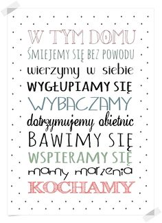 boombom: Zasady domu - DO POBRANIA Bujo, Health Promotion, Motivate Yourself, Love Life, Kids And Parenting, Motto, Helpful Hints, Best Quotes, Bible Verses