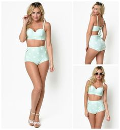The Katy Polka Dot Vintage Vibe Bikini Swimsuit