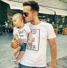 Father Son/Daughter Matching Shirts, Best Dad Ever Best Kid Ever, Matching Family Shirts, Father's Day Gift, Daddy and Me Outfit Dad Baby, Mom And Baby, Funny Baby Pictures, Matching Shirts, Matching Set, Father And Son, Father Daughter Shirts, Daddy Daughter, Family Shirts