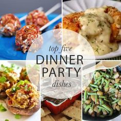 Top five dinner party dishes // a must-read!