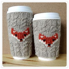 FOX mug cozy by AlexandraDavidoff on Etsy, $12.00