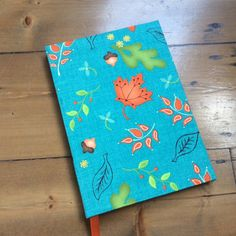 Large Notebook Covered in Home for Harvest Fabric by HandcraftedNotebooks on Etsy
