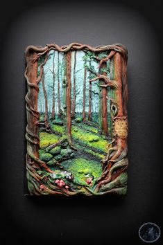 Artistic Variations: Forest notebook cover with dedication/ leśny notat...