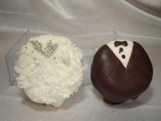 Dulces decorados para boda.